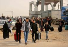 مسافرون في معبر رفح البري جنوب قطاع غزة