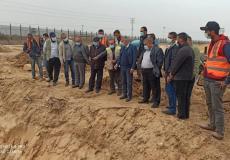 توسعة معبر رفح البري جنوب قطاع غزة