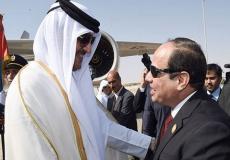 الرئيس المصري وأمير قطر - ارشيف