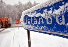 الثلوج تُعانق مدينة اسطنبول ومناطق اخرى في تركيا