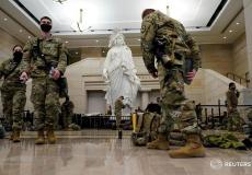الحرس الوطني الأمريكي يتجمع داخل مباني الكونغرس في واشنطن