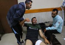 جرحى خلال العدوان الإسرائيلي على قطاع غزة اليوم