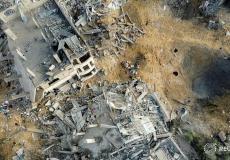 من آثار القصف الإسرائيلي على شمال غزة مساء أمس