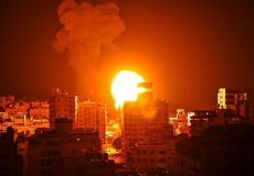 غارارت عنيفة جنوب قطاع غزة