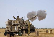 حشودات عسكرية إسرائيلية  على حدود قطا ع غزة