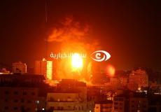 من الغارات الإسرائيلية على قطاع غزة أمس