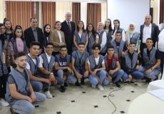 لقاء عورتاني مع أعضاء البرلمان الطلابي الموحد ومجلس أطفال فلسطين