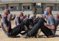 تدريبات لمنتسبين وزارة الداخلية في غزة - أرشيف