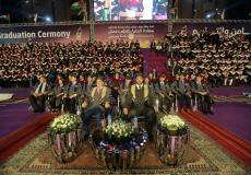 من احتفالات التخرج في جامعة فلسطين