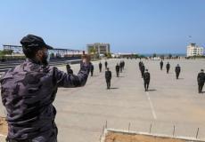 موظفي التشغيل المؤقت في قوى الأمن بغزة