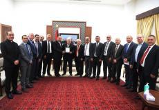 لقاء الرئيس عباس برؤساء الجامعات الفلسطينية بالضفة والقدس