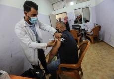 تطعيم كورونا في غزة