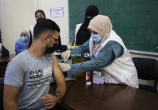 تطعيم ضد كورونا في غزة
