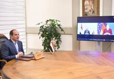 الرئيس المصري مع أنجيلا ميركل