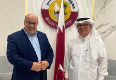 الدعليس يلتقي السفير القطري محمد العمادي