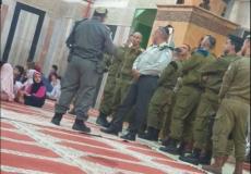 اقتحام الحرم الإبراهيمي في الخليل
