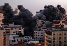 تدمير اسرائيل للأبراج في قطاع غ