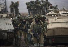 قوات جيش الاحتلال الاسرائيلي على حدود غزة/ أرشيفية
