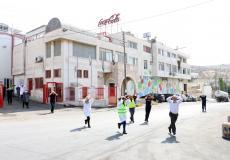 مناورة تدريبية للدفاع المدني في مصنع كوكاكولا برام الله