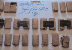 غزة : مكافحة المخدرات تضبط 180 فرش حشيش في رفح