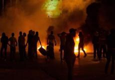 مواجهات بين شبان فلسطينيين وقوات الاحتلال -ارشيف-