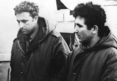 إيهود باراك (من اليمين) وأمنون ليبكين شاحاك (مكتبة الصحافة الحكومي)