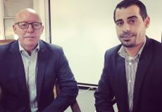 جيمي ماكغولدريك خلال حواره مع وكالة سوا الاخبارية في غزة