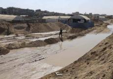 ضخ المياه على الحدود المصرية