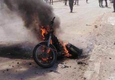 إنفجار دراجة نارية مفخخة - أرشيفية