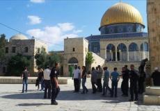 اقتحام باحات المسجد الأقصى