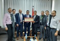 رشدي وادي وكيل وزارة الاقتصاد الوطني يستقبل وفدا من شركة جوال