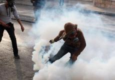قنابل الغاز التي يطلقها الاحتلال في غزة