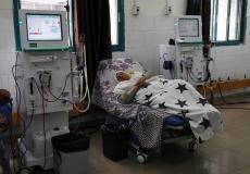 مريضة في قسم الكلى في مستشفى الشفاء بغزة