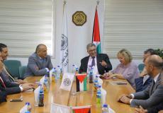 رئيس جامعة القدس يستقبل رئيس مجموعة الاتصالات الفلسطينية في جامعة القدس