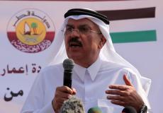 السفير القطري محمد العمادي  رئيس اللجنة القطرية لإعادة إعمار غزة