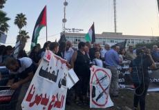 من الوقفة الاحتجاجية في الناصرة
