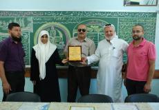 نواب المحافظة الوسطى يتفقدون مدرسة فتحي البلعاوي في مخيم البريج