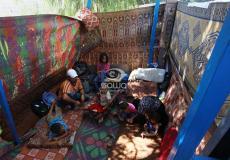الشاب وليد أبو شاويش يعيش في خيمة وسط غزة - apaimages