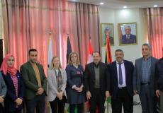 جامعة الاقصى تستقبل وفداً من السفارة الكندية في فلسطين