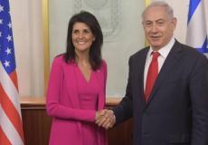 بنيامين نتنياهو رئيس الحكومة الإٍسرائيلية ونيكي هايلي -ارشيف-