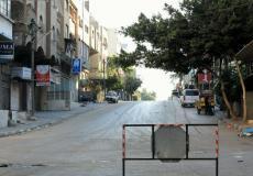 شوارع غزة في ظل حالة الحظر