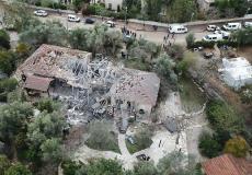 صاروخ أطلق من غزة وسقط في منزل في تل ابيب