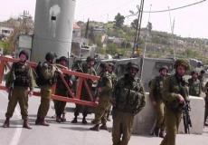 الاحتلال ينصب حاجزا عسكريا على مدخل الولجة شمال غرب بيت لحم ارشيف