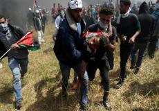إصابة متظاهر على حدود قطاع غزة _ أرشيف