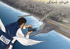 الفنان محمود عباس ينعش روح القضية الفلسطينية بالكاريكاتير