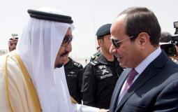 الرئيس المصري عبد الفتاح السيسي برفقة الملك السعودي سلمان بن عبد العزيز