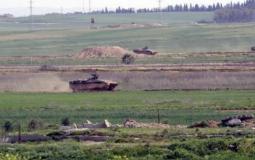 آليات الاحتلال الاسرائيلي على حدود غزة - ارشيف