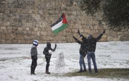سقوط الثلوج في فلسطين - ارشيف
