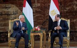 الرئيس الفلسطيني محمود عباس ونظيره المصري عبد الفتاح السيسي - أرشيف