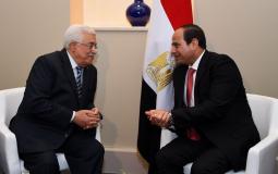 الرئيس محمود عباس ونظيره المصري عبد الفتاح السيسي